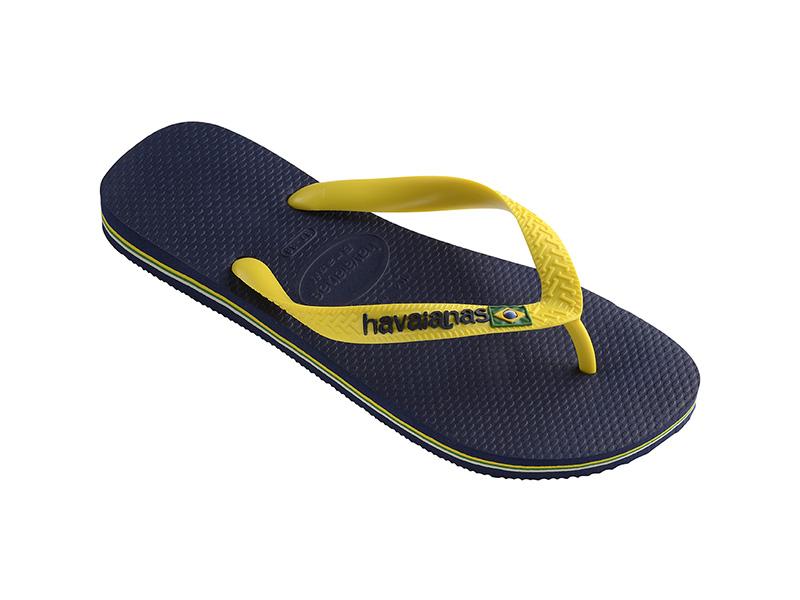 Brasil Logo Navy Blue/Citrus Yellow